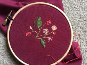 Finished miniature embroidery (3/3)