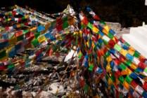 隨風飄揚的經幡,代表著藏民的禱告