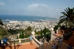 站在花園的最高處看海法海港
