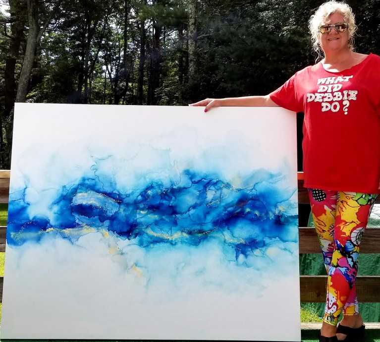 Large Alcohol ink painting