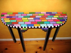 Polka Dot Side Table