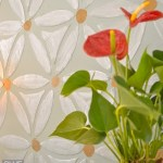 "Textured ""flower power"" wall or furniture finish tutorial."