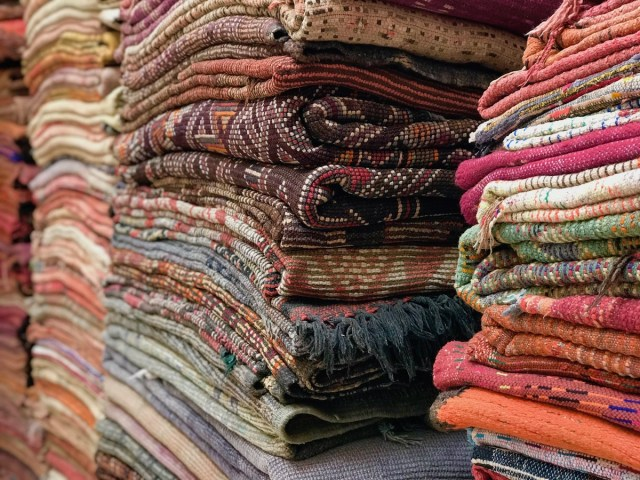 Rug shopping in Marrakech