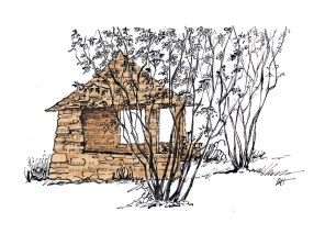 stone hut, France