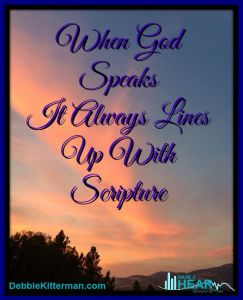 Lines up with Scripture