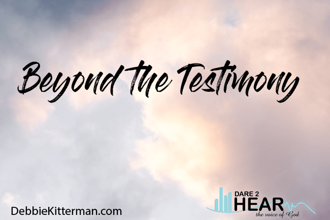 Beyond the Testimony + Tune in Thursday #217