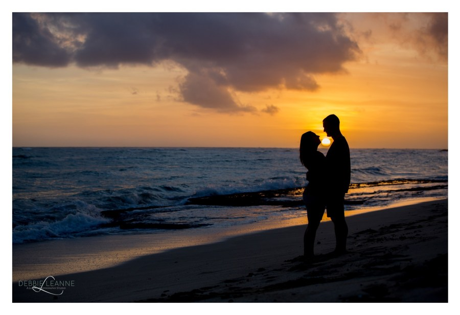husband and wife at sunset