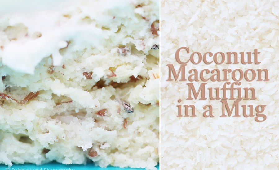 coconut, recipe, muffin in a mug, food photography
