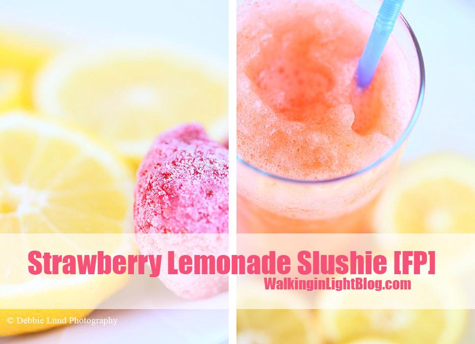 Strawberry Lemonade Slushie, Trim Healthy Mama