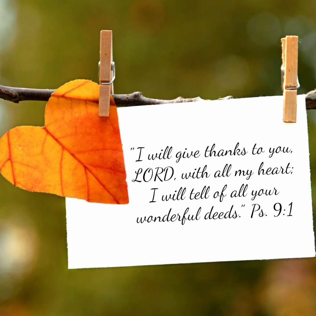 The Power of a Grateful Heart: 21 Verses of Thanks to God
