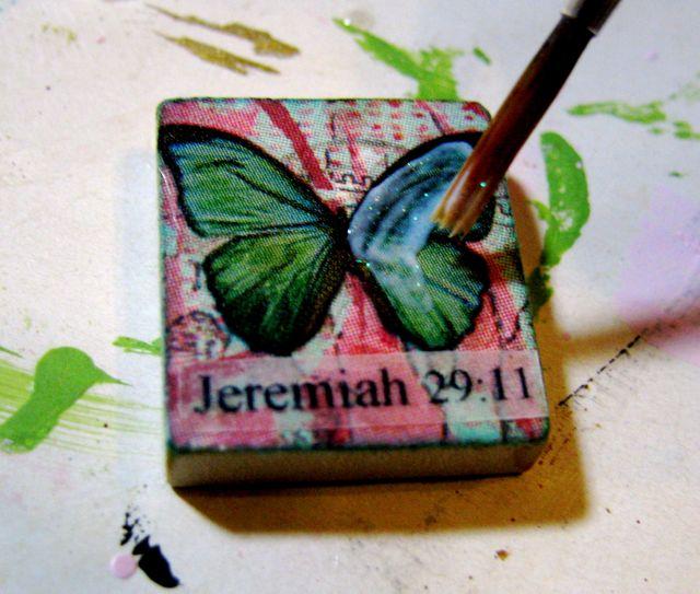 scrabble tile pendant tutorial art by