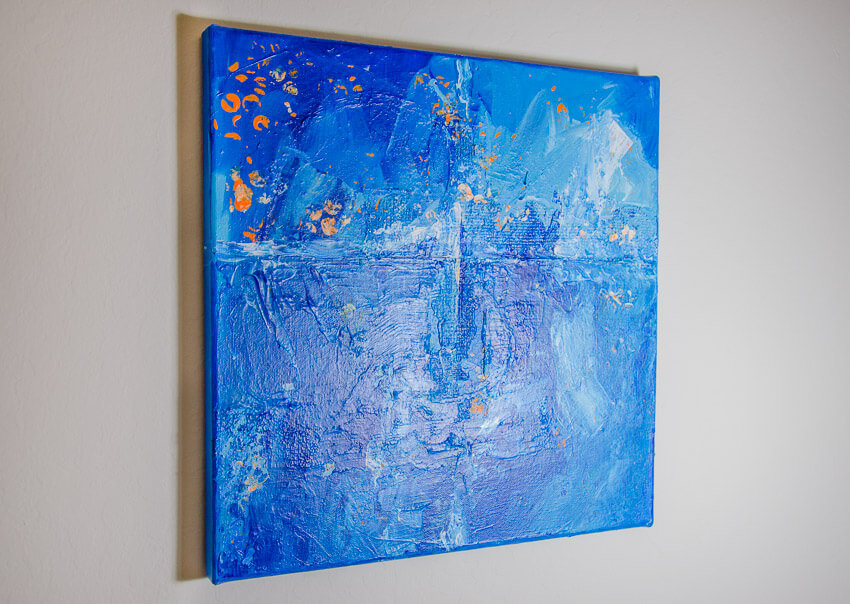side view of abstract painting Melting Glaciers