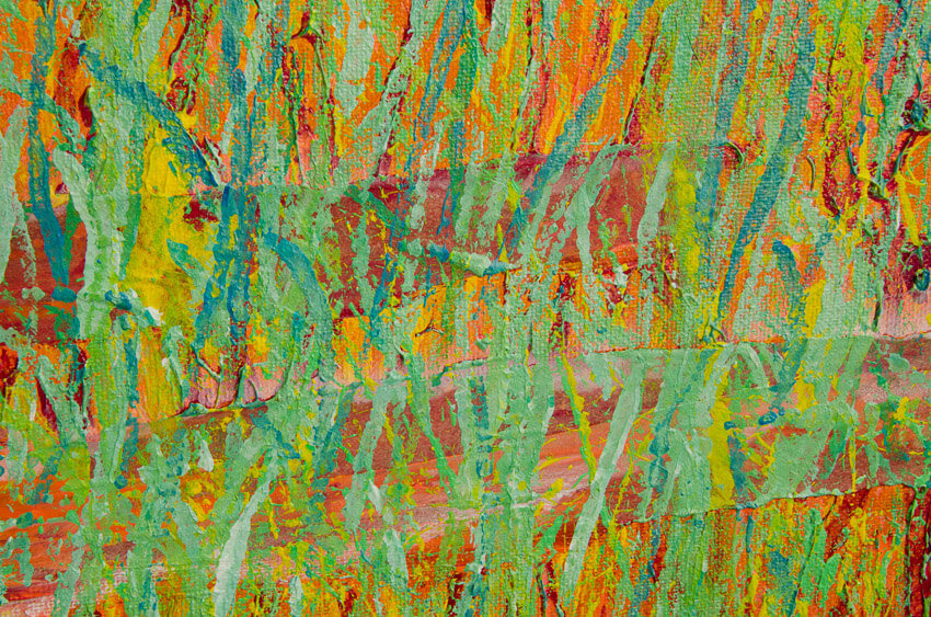 """Close up detail of """"Spring Equinox"""" Abstract Painting"""