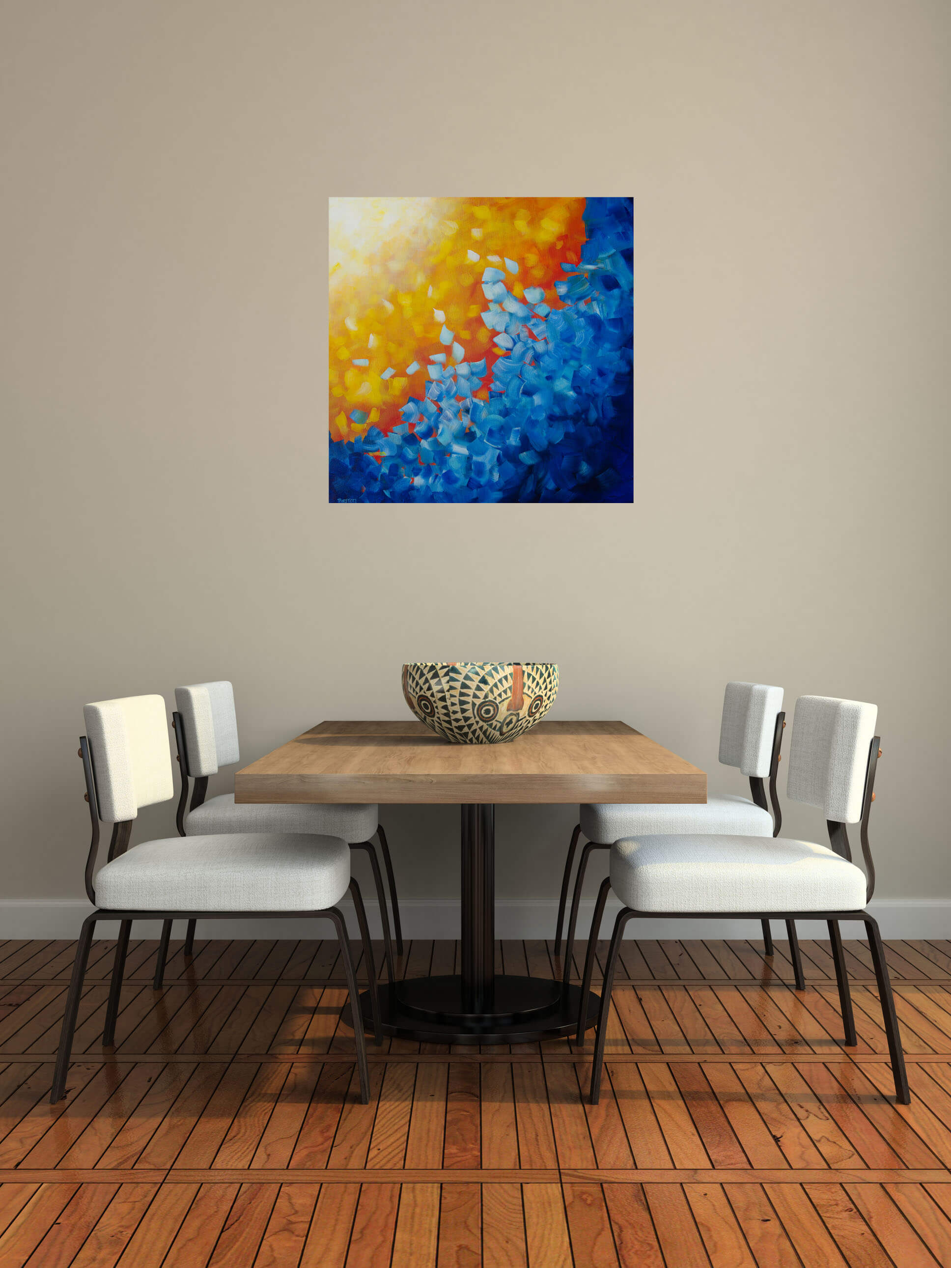 element water painting in home