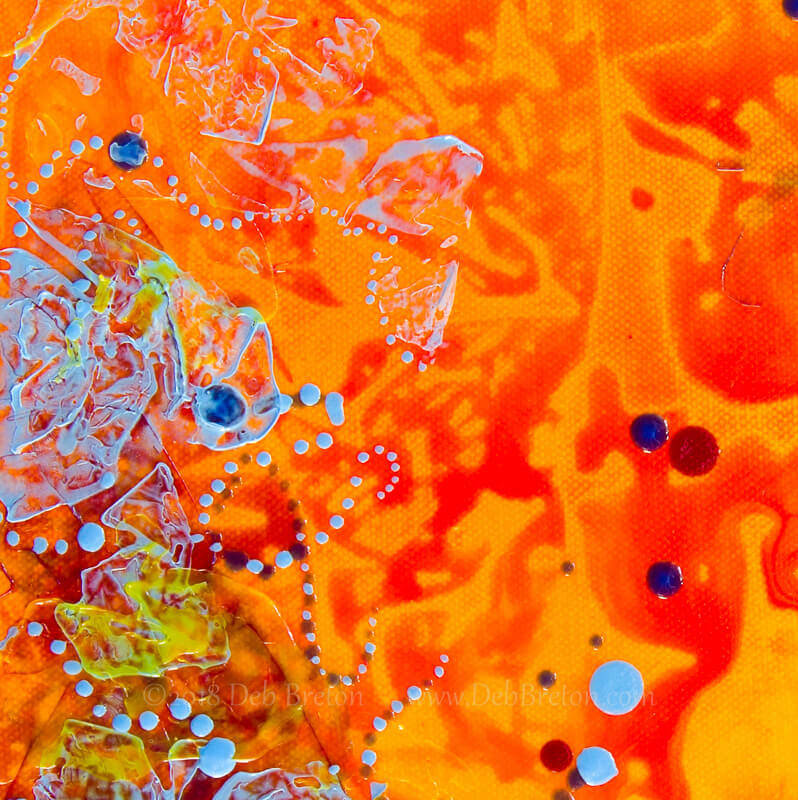 Tangerine Dream Square Abstract orange painting