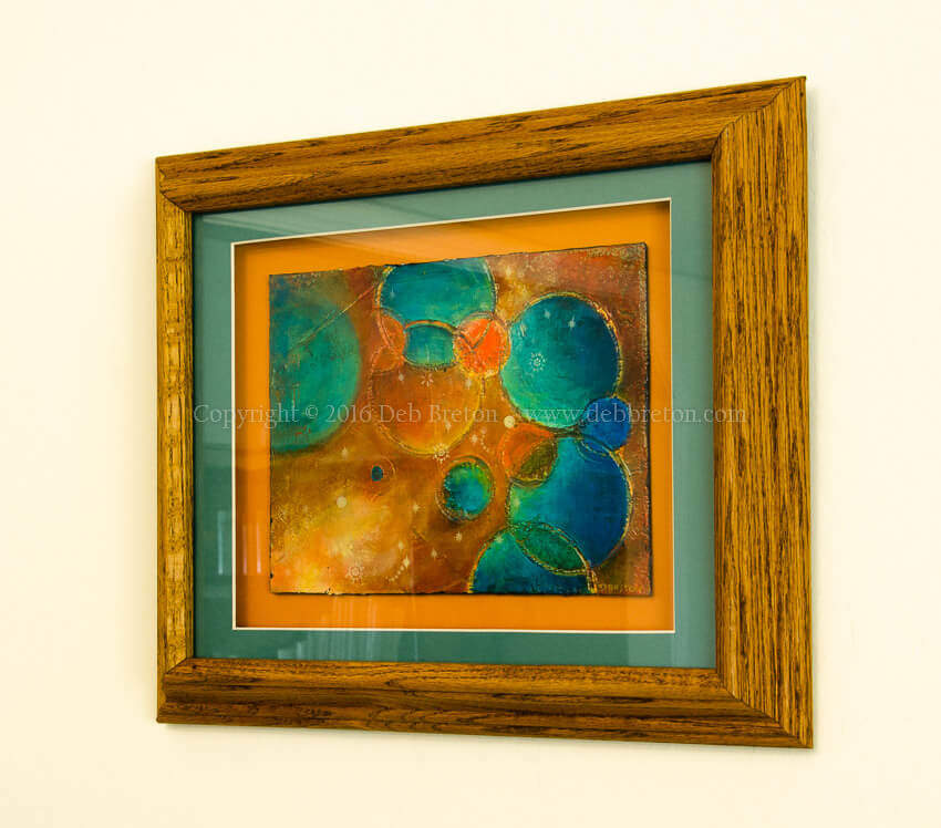 Framed Welcome to my world painting