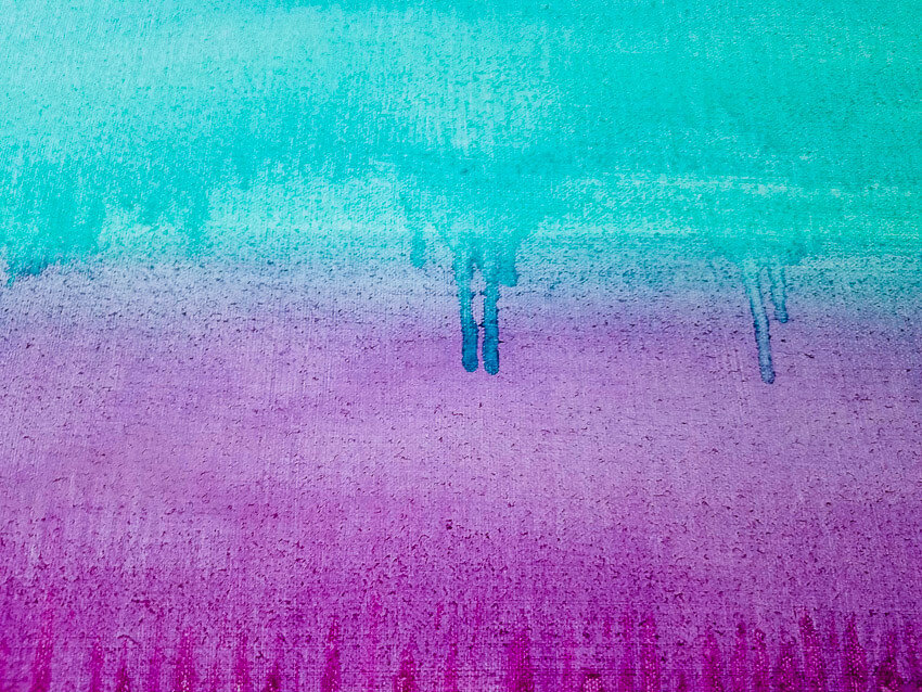 When the Night Comes close-up teal or turquoise and purple