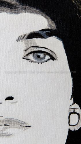 jackie kennedy close-up of artwork