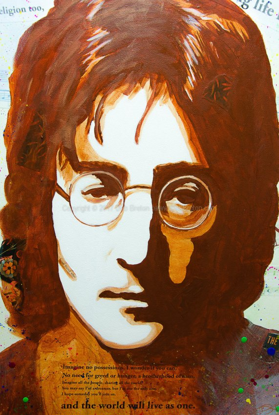 Close up of John Lennon - Imagine