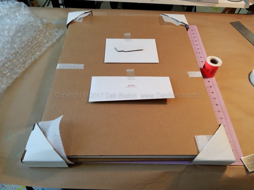 packaging your painting- include documents