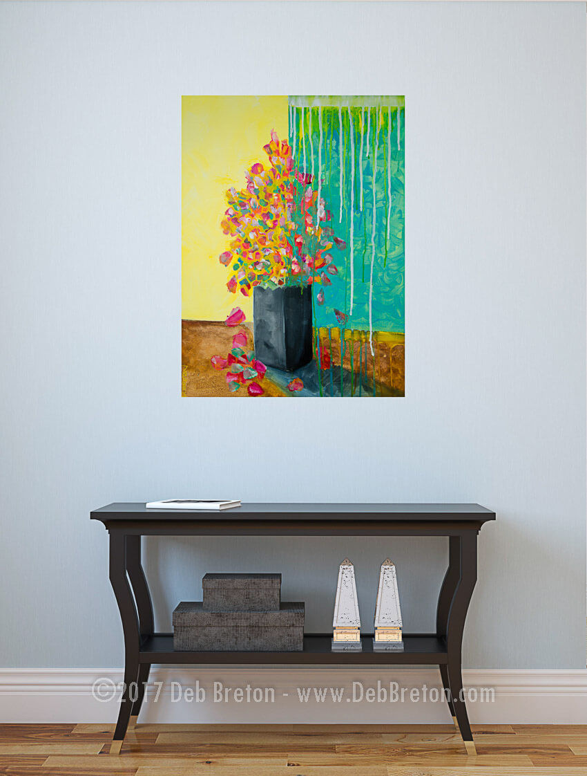 Floral Painting in living area