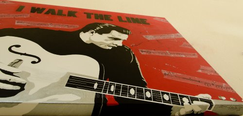 johnny cash portrait painting