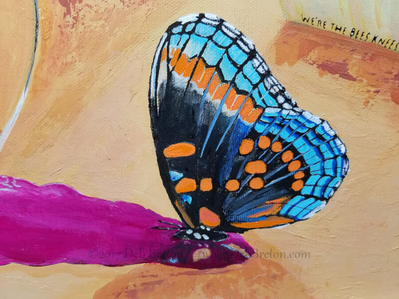 butterfly puddling on wine