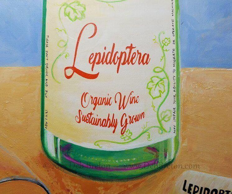 Lepidoptera Wine Bottle