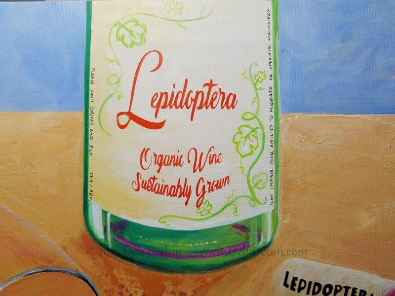 Happy Hour - Lepidoptera Wine Bottle