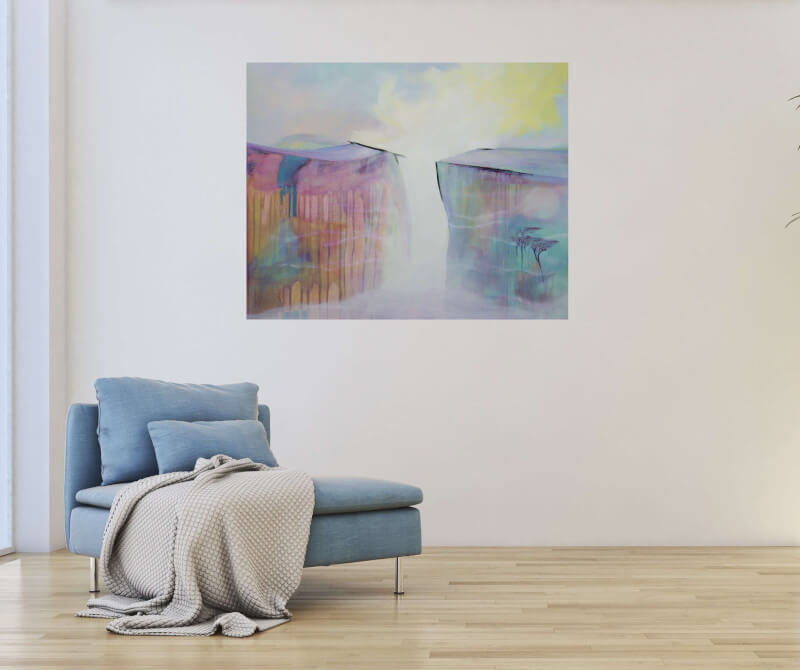 large abstract surreal painting