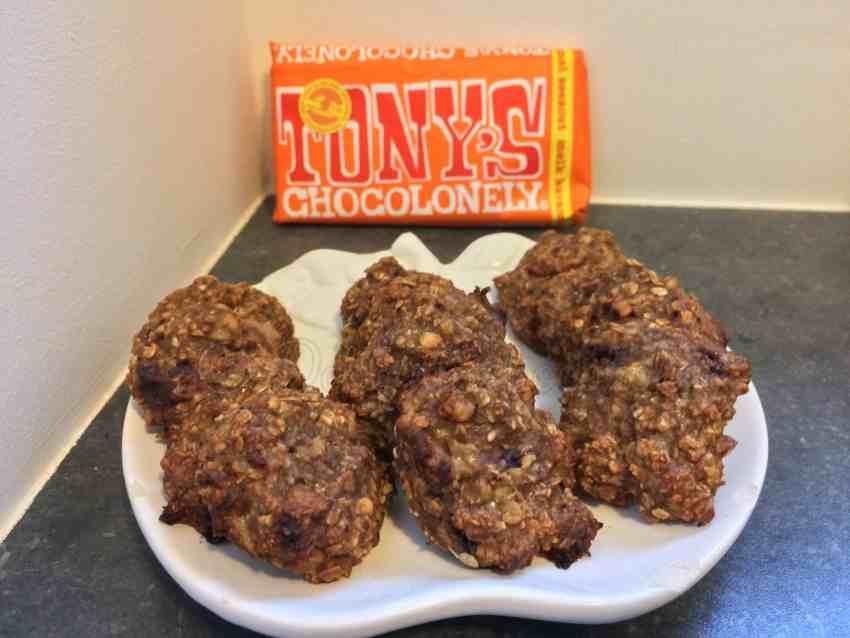 Havermout Banaan Chocolade koekjes