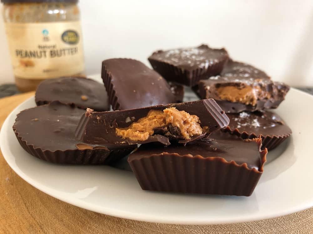 Chocolade pindakaas bonbons