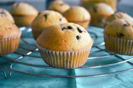 muffins met chocolade chips en kaneel