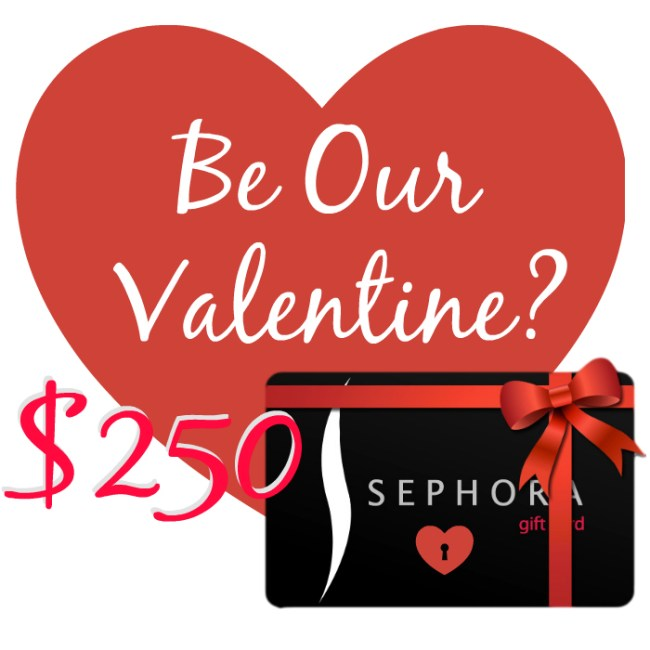 $250 Sephora Gift Card Giveaway- It's me, debcb!