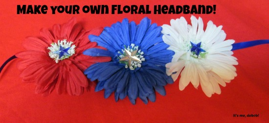 Make your own floral headband!