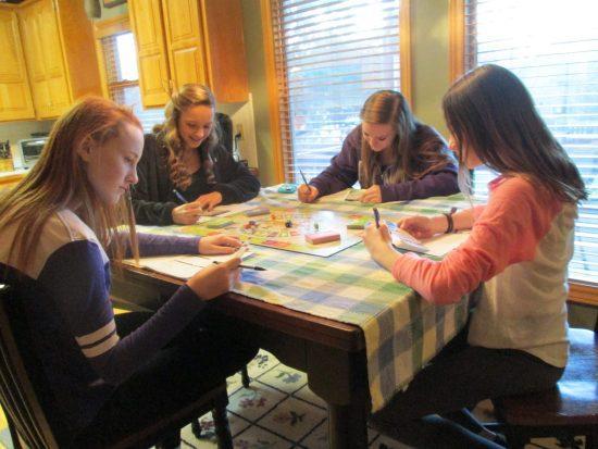Teens playing CASHFLOW