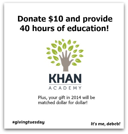 It's Giving Tuesday. Help support Khan Academy