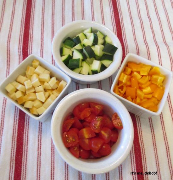 Pasta Salad Ingredients- It's me, debcb!