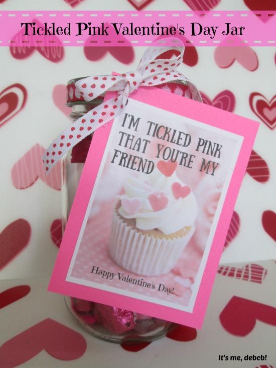 Tickled Pink Valentine's Day Jar plus a FREE Printable!