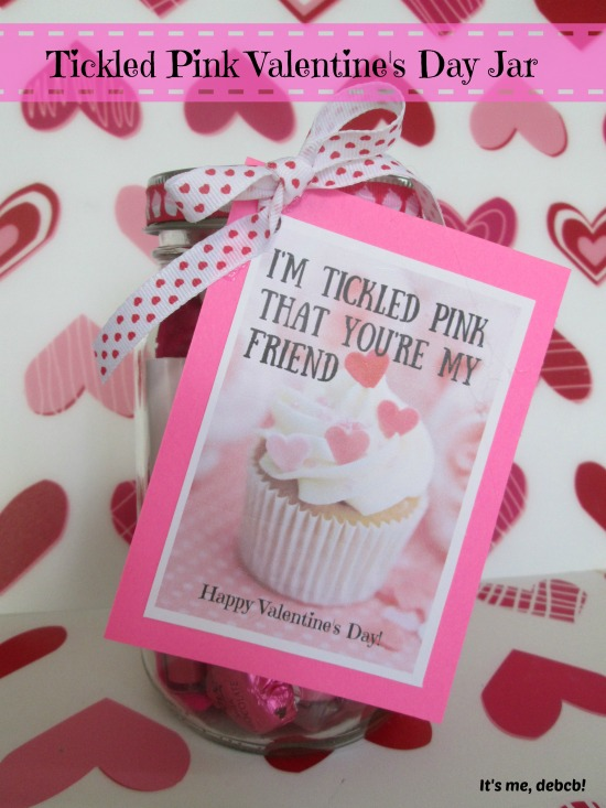 Tickled Pink Valentine's Day Jar- It''s me, debcb!