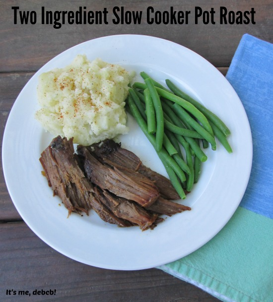 Two Ingredient Slow Cooker Pot Roast