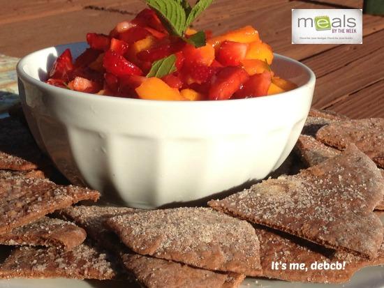 Strawberry Mango Salsa with Chocolate Tortilla Chips