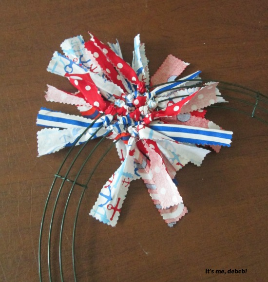Patriotic Fabric Wreath #5