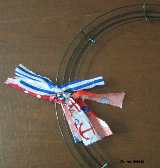 Patriotic fabric Wreath #4