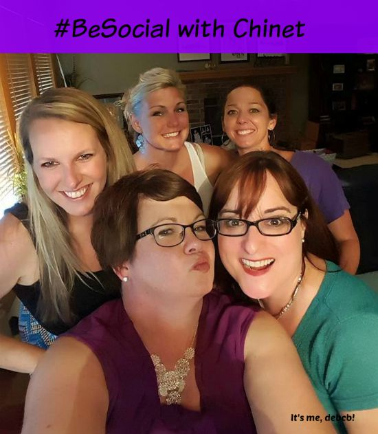 #BeSocial with Chinet- It's me, debcb!