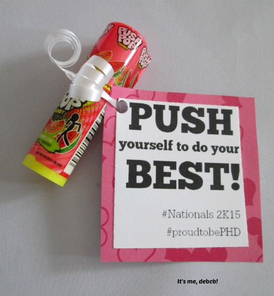 Push Pop Motivator- It's me, debcb!
