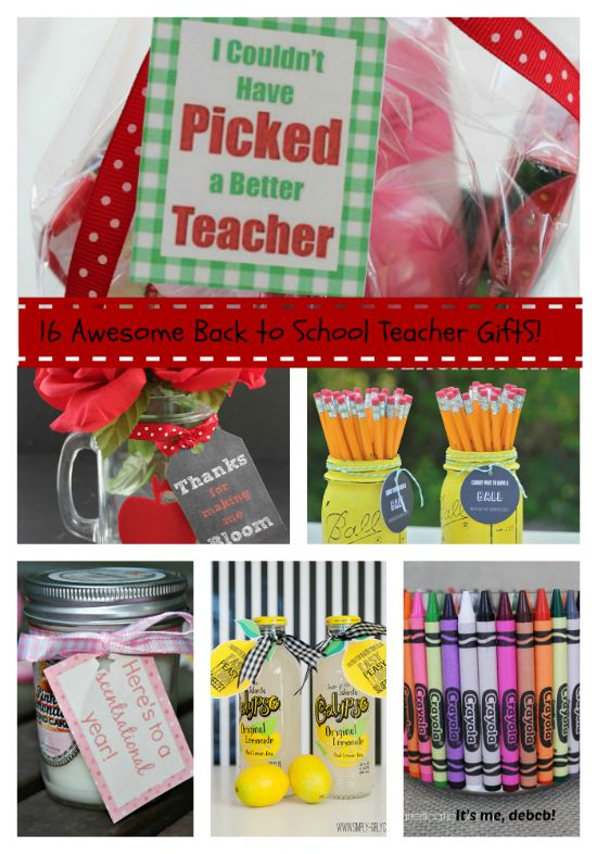 16 Awesome Back to School Teacher Gifts!- It's me, debcb!