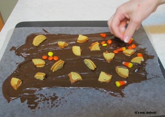 Making Fall Chocolate Bark