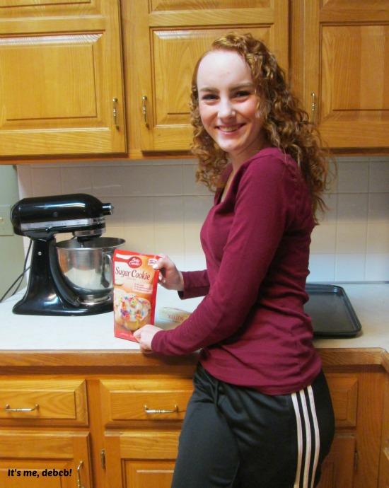 Baking cookies to spread cheer