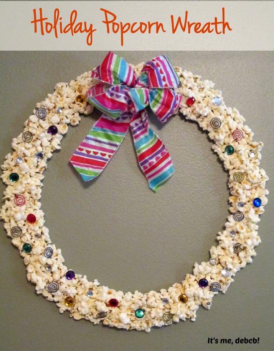 Holiday Popcorn Wreath